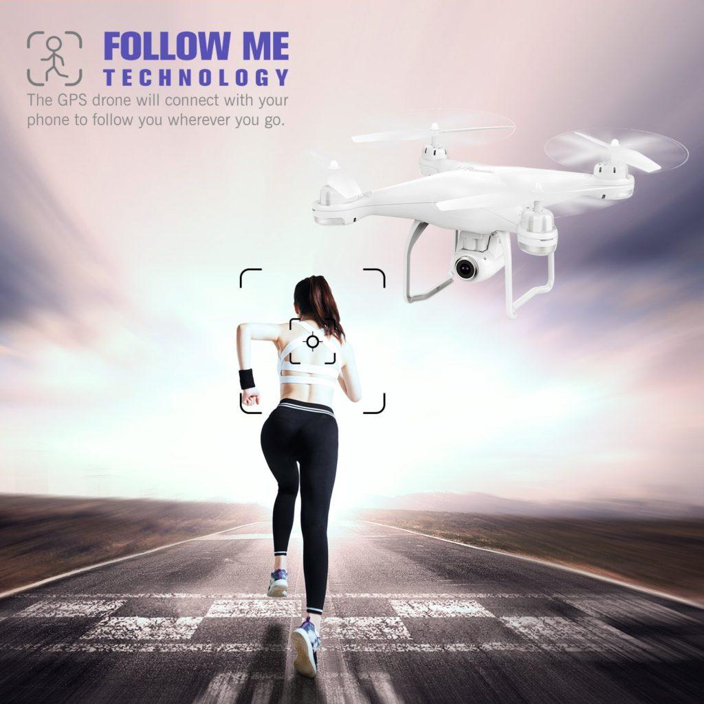 Potensic T25 GPS FPV RC Drone Follow me