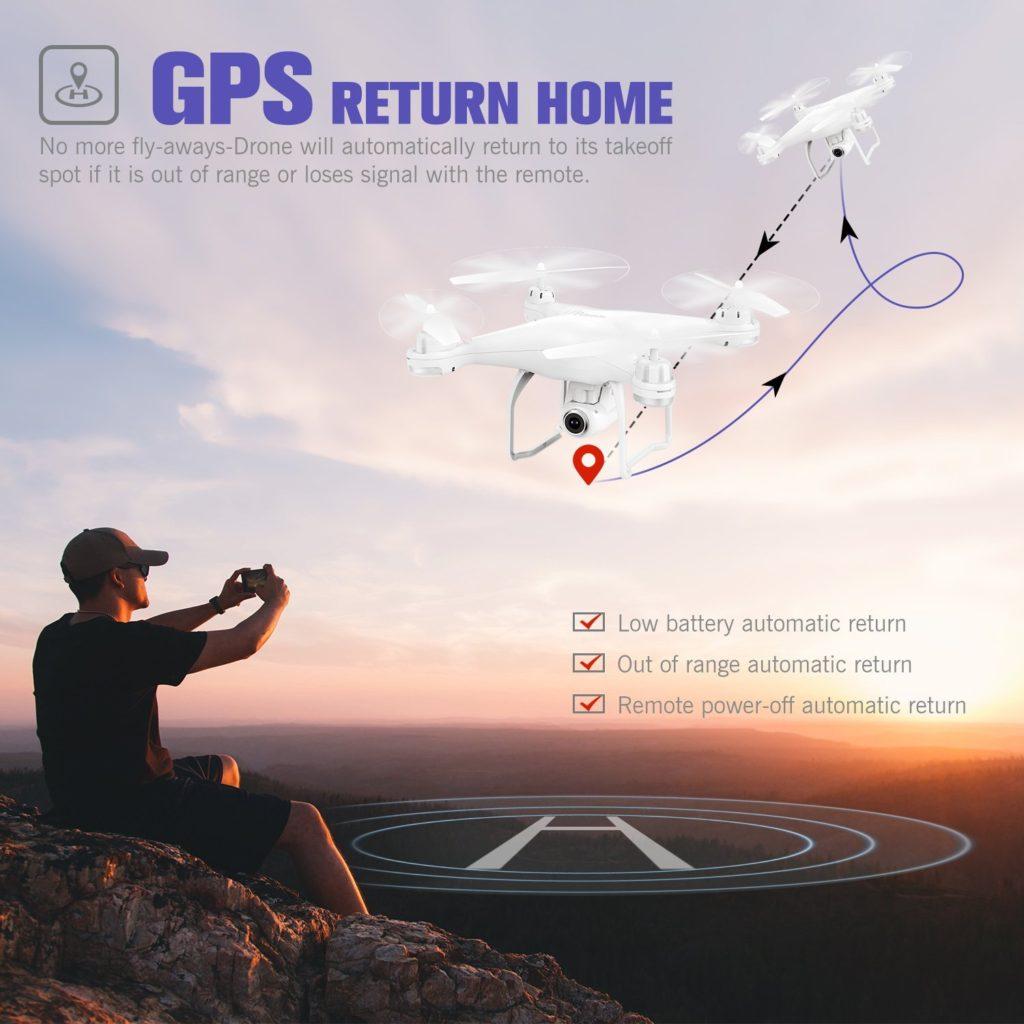 Potensic T25 GPS FPV RC Drone Return Home