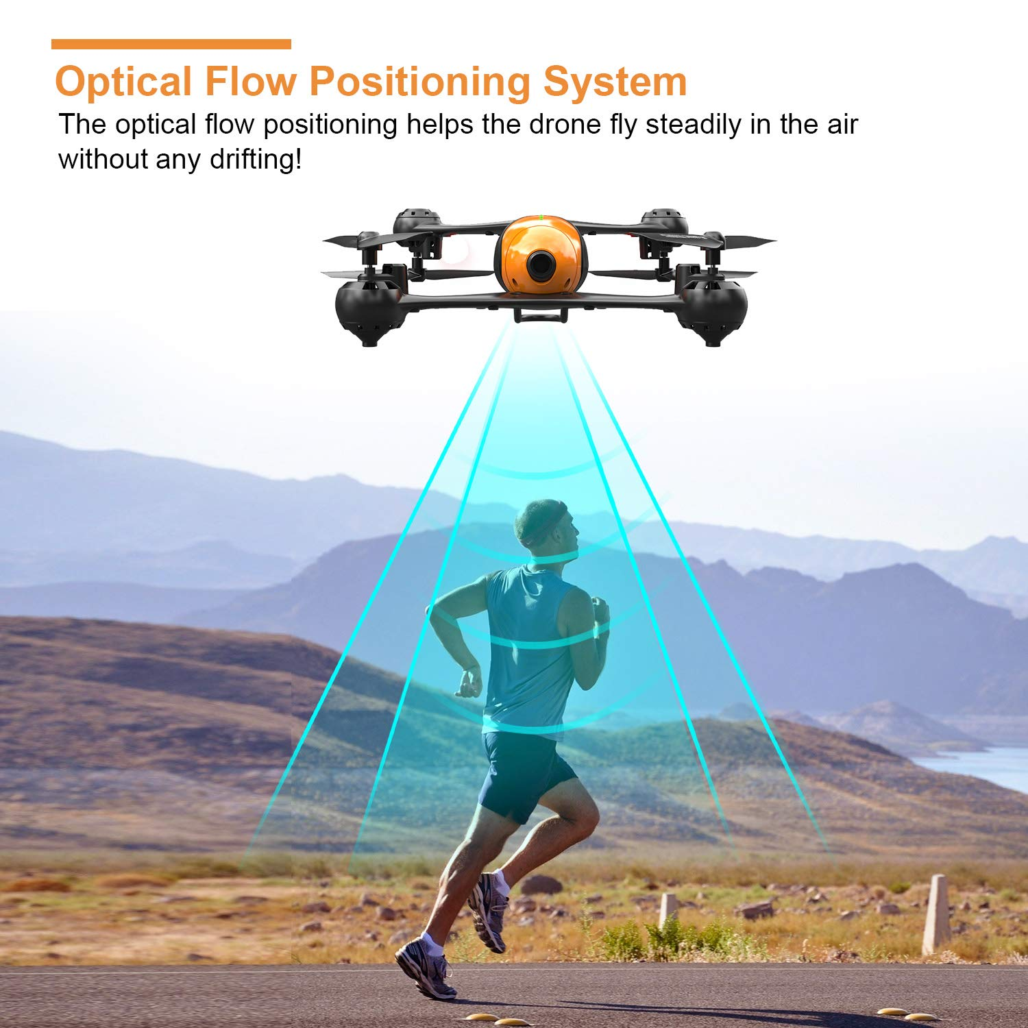 Dual Camera Drone Optical Flow Positioning