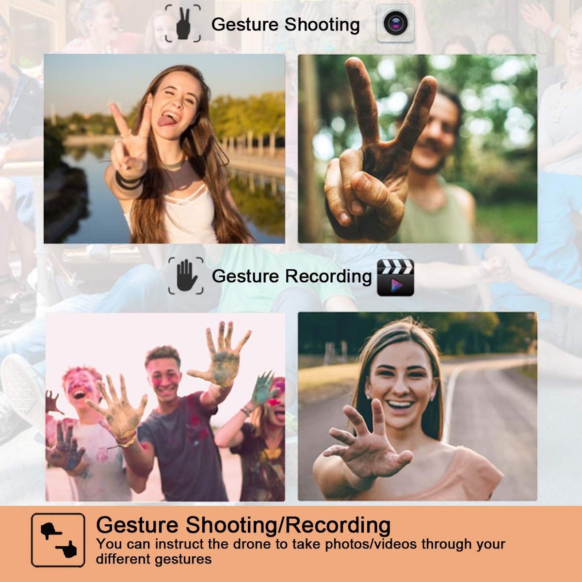 Mixi Drone Gesture Shooting