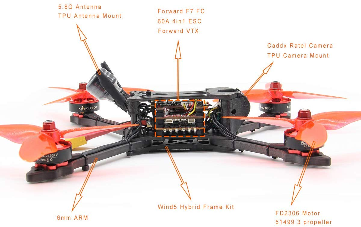HGLRC Wind5 6S FPV Racing Drone Details