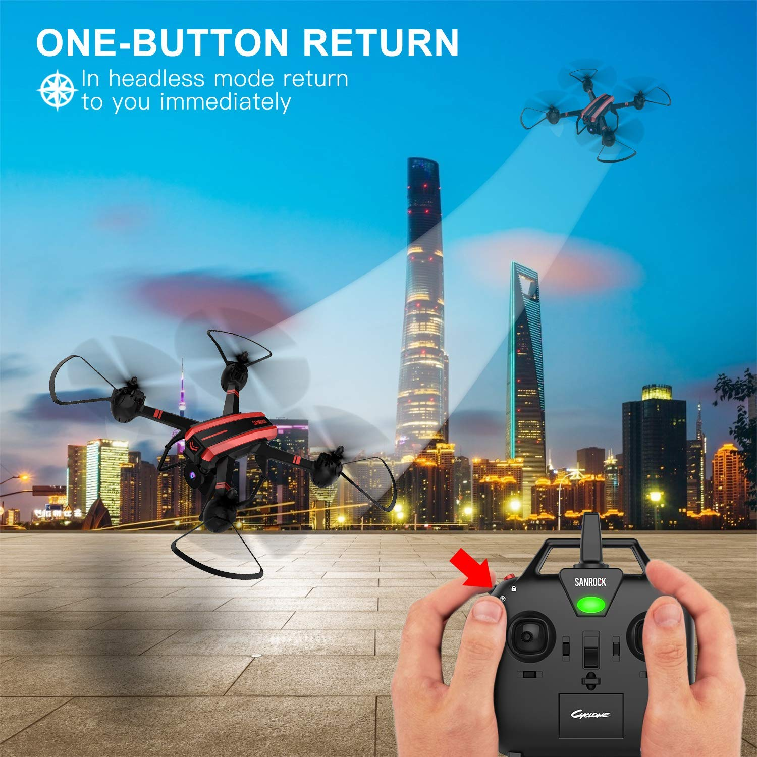 SANROCK X105W One Button Return