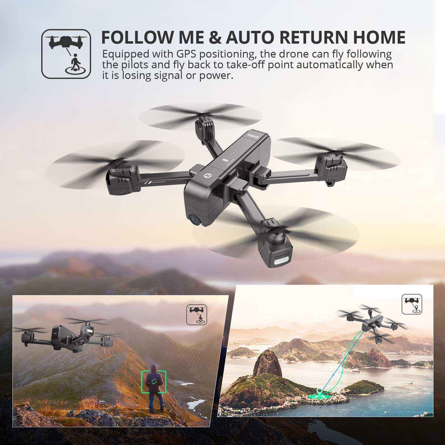 Holy Stone HS270 Follow Me and Auto Return Home