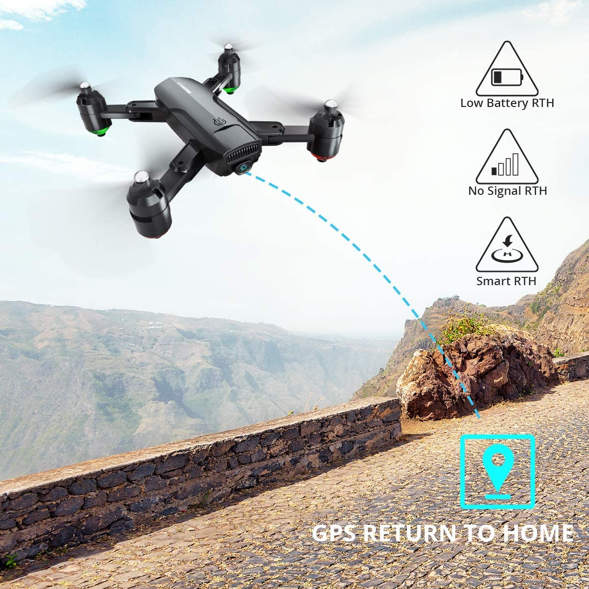 Dragon Touch DF01G Drone GPS Return Home