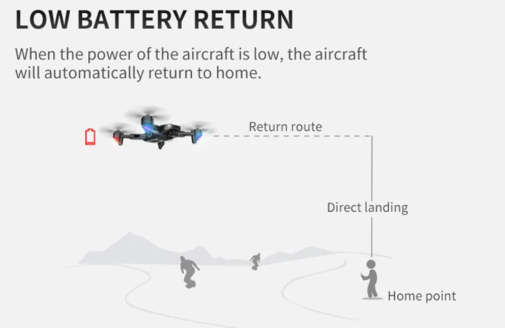 SG701-S Drone Low Battery Return