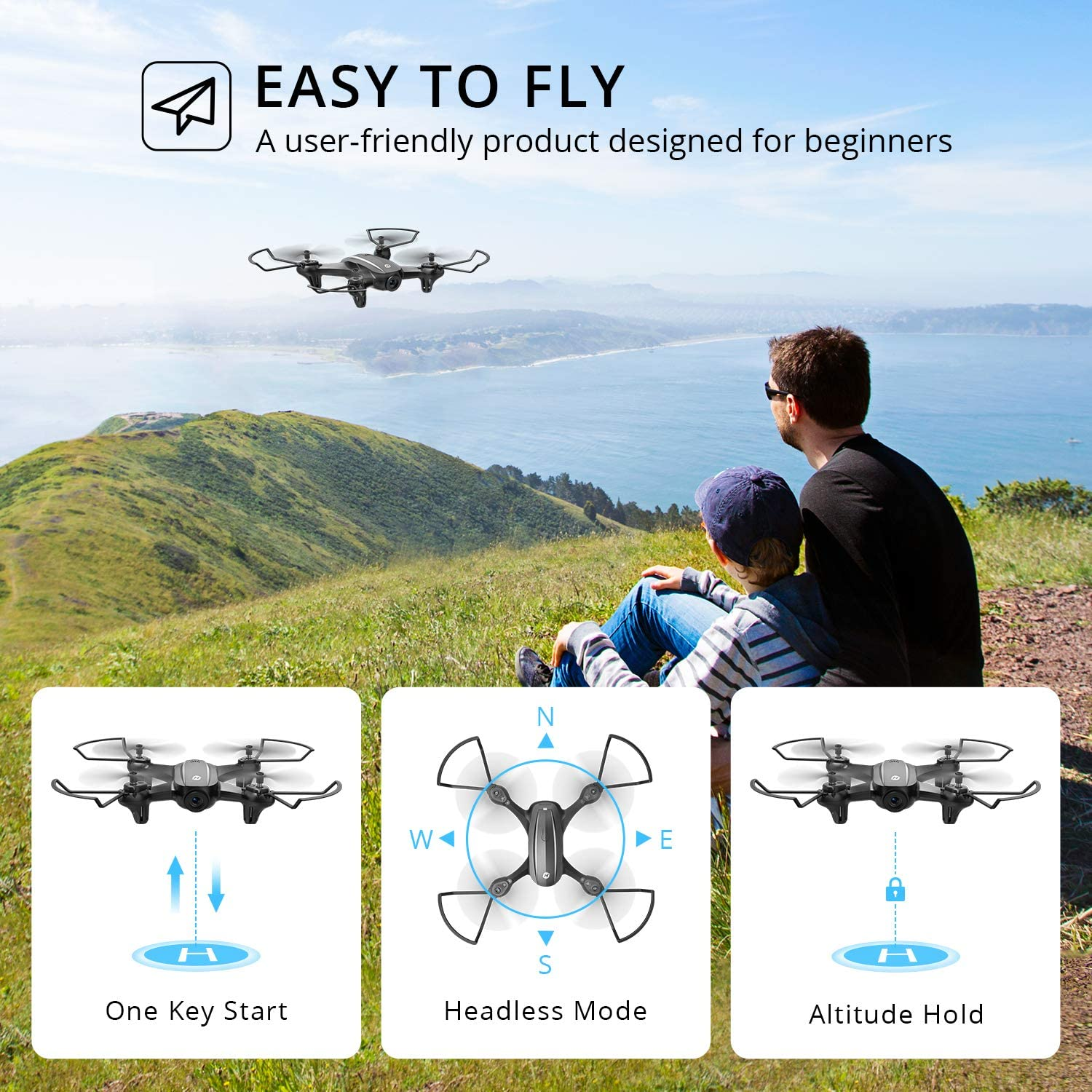Holy Stone HS340 Mini Drone - Beginners Drone