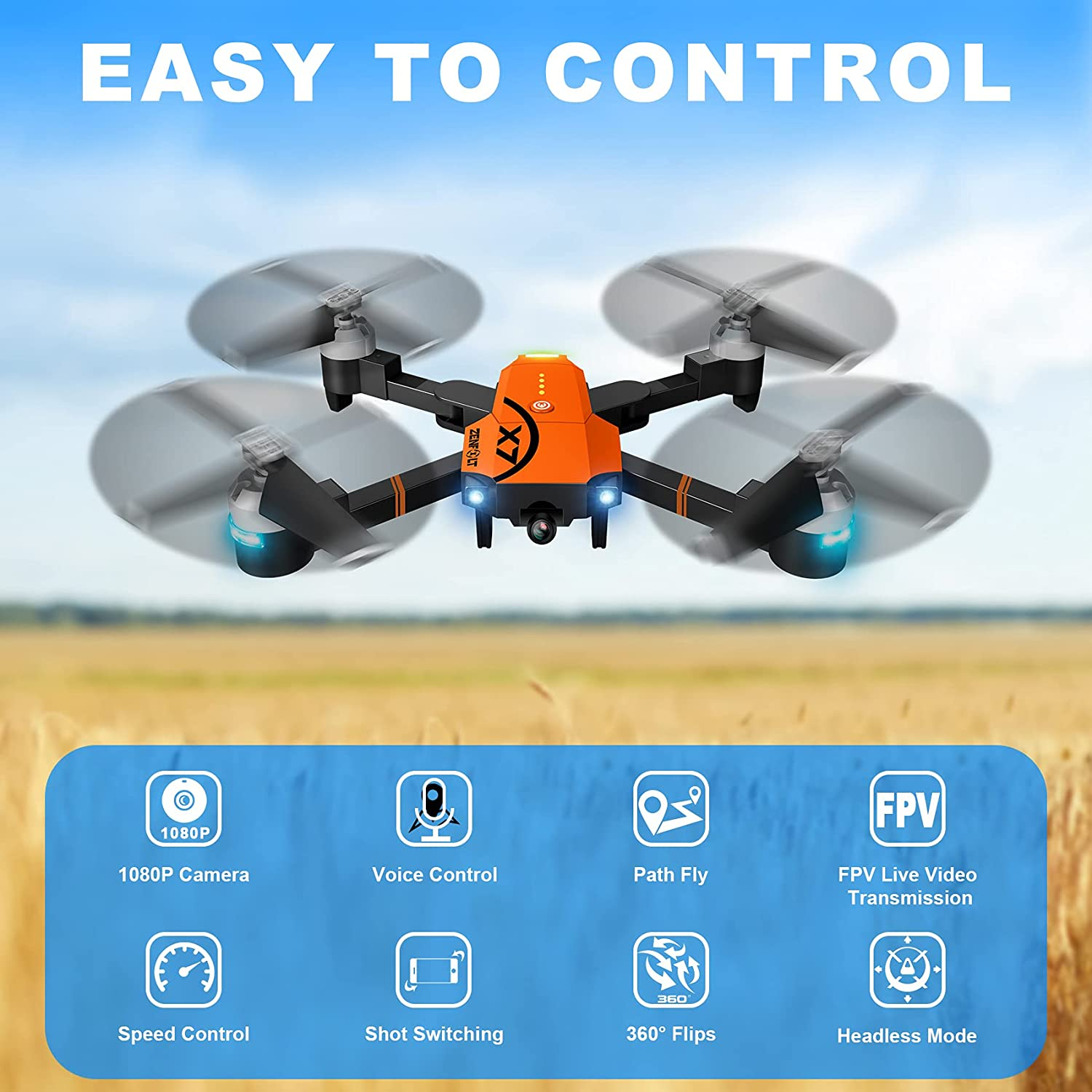 ZENFOLT X7 Easy To Fly Drone