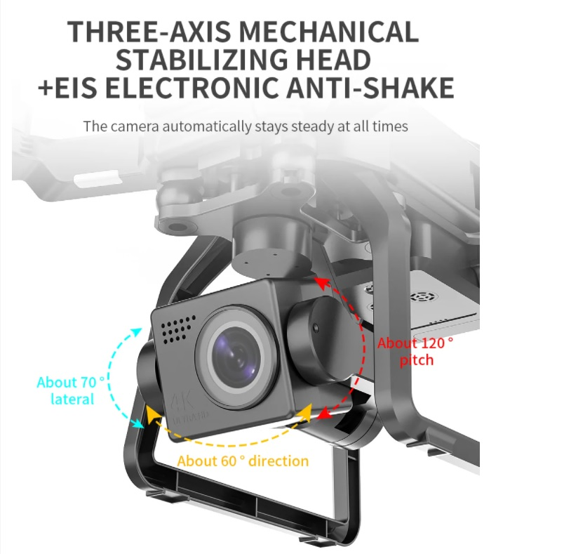 SJRC F7 4K PRO 3-axis gimbal and EIS